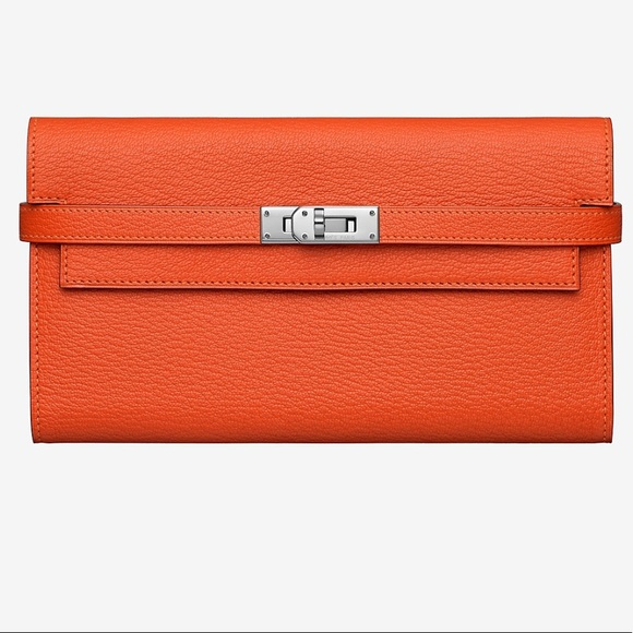 92ecec5889 Hermes Handbags - Authentic Hermes classic kelly wallet clutch